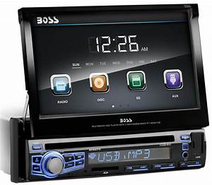 Boss Bv9973 Car Dvd  Cd Player 7 U0026quot  Touchscreen Monitor Ipod  Usb In Color Changing
