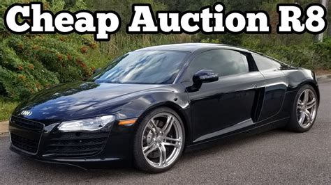 here s how much my salvage audi r8 cost how much i will invest to rebuild it youtube