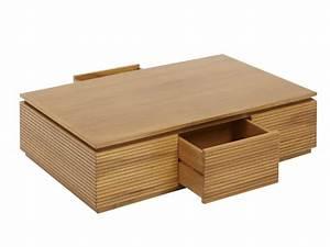 Table Basse Vente Unique : table basse loft ii 2 tiroirs teck massif naturel ~ Nature-et-papiers.com Idées de Décoration