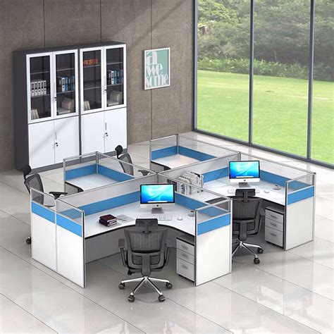 china modern office furniture blue office cubicle office