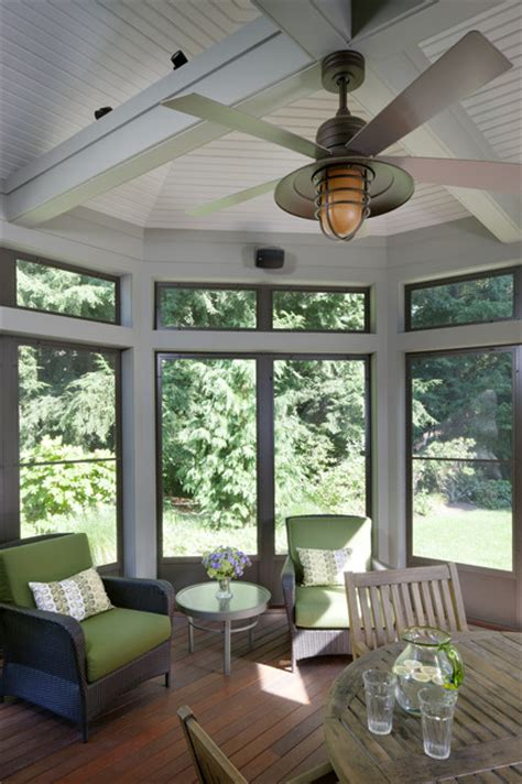 ceiling fan for screened porch tudor addition screened porch traditional porch