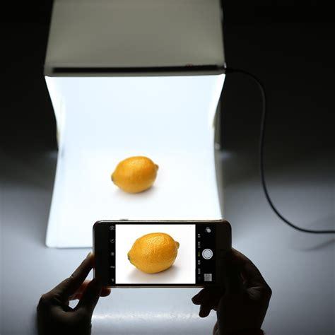 lerbyee folding lightbox photo studio led desktop studio