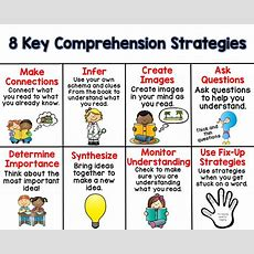 8 Key Comprehension Strategies {freebie}