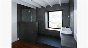 Salle De Bain Beton Cire : r alisation salle de bain lancelin fils d corateur caen ~ Dailycaller-alerts.com Idées de Décoration