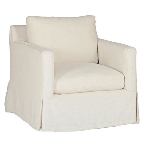 swivel chair slipcover casual ivory linen slipcover swivel arm
