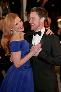 Jessica Chastain danced with James McAvoy on the red ...