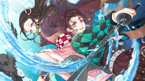 wallpaper anime kimetsu  yaiba kamado nezuko