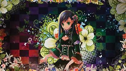 Anime Butterflies Colorful Flores Coloridas Cleavage Checkered