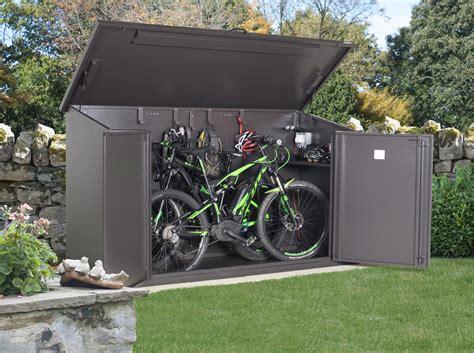 garden bike sheds storage access e plus bike storage approved e bike storage from