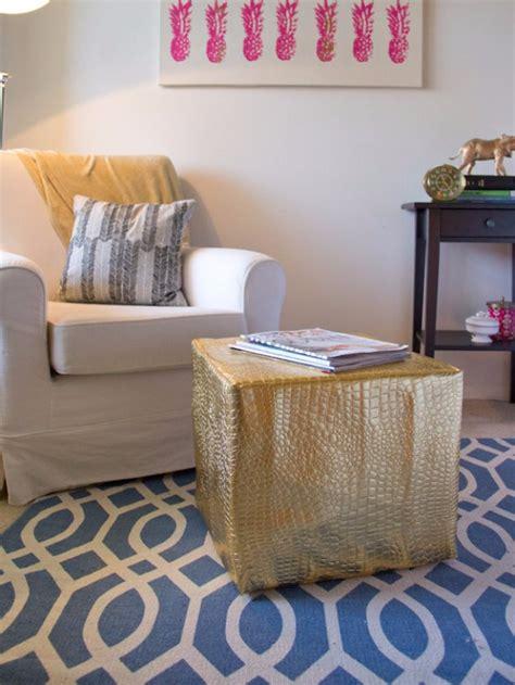 fabulous diy poufs  living room