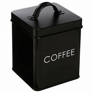 Boite De Rangement Alimentaire : bo te de rangement m tal caf 14cm noir ~ Dailycaller-alerts.com Idées de Décoration