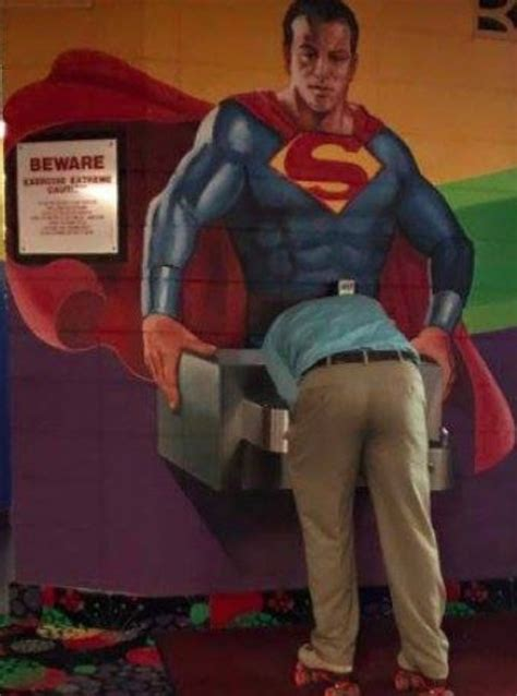 superman drinking fountain funny faxo
