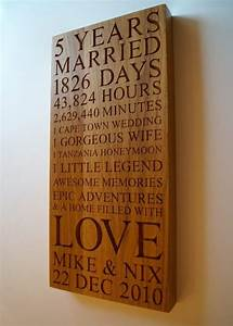 personalised wooden gifts makemesomethingspecialcom With 5th wedding anniversary gifts for husband