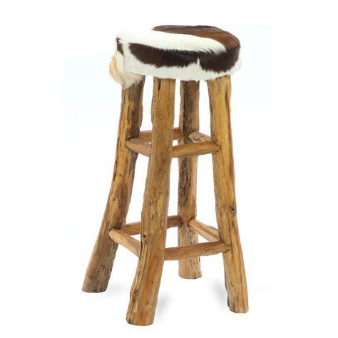 Cowhide bar stool log legs   Erosion teak root wood furniture manufacturer, home decoration