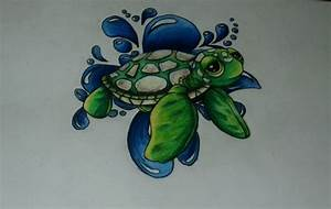 Tattoo #5 - Baby Sea Turtle | MyFolio