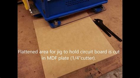 Handibot Making Jig For Cutting Small Circuit Boards