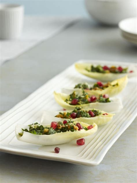 Endive Boats by Endive Boats With Green Olive Parsley And Walnut Salad