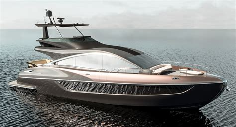 lexus releases rendering  upcoming luxury yacht ly