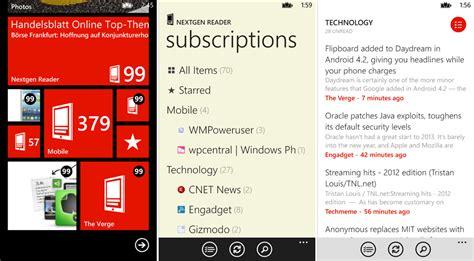 nextgen reader gets a major update for windows phone 8 winsource