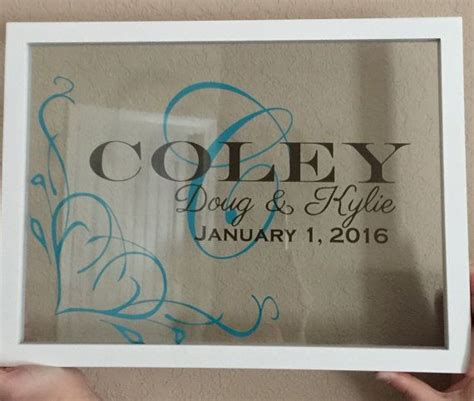 how to personalized gifts personalized monogramed floating frame 11x15 by