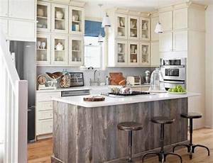 salvaged kitchen cabinets o insteading With kitchen colors with white cabinets with barn board wall art