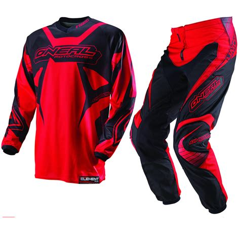 motocross jerseys and pants oneal 2013 element racewear red black mx motocross jersey