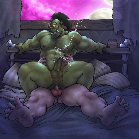 Rule 34 Anal Anal Sex Captaingerbear Cum Cumshot Fucked Silly Gay Green Skin Gripping Hairy
