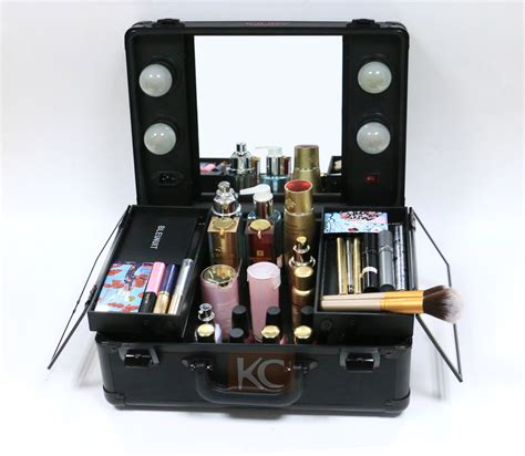 professional makeup vanity with lights lighting cosmetic case with mirrior professional makeup