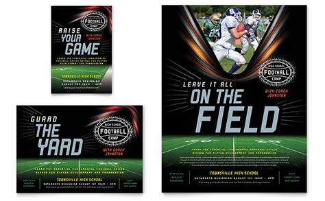 football training flyer ad template design