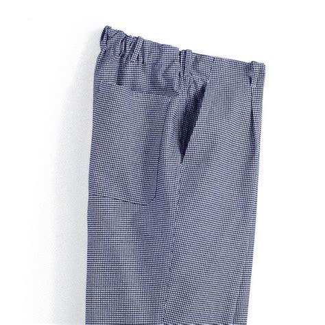 pantalon pied de poule cuisine pantalon cuisine homme pied de poule bleu blanc elastique dos
