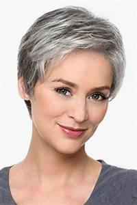 Coupe Cheveux Gris Femme 60 Ans : belle coupe de cheveux tres court femme 60 ans ~ Voncanada.com Idées de Décoration