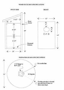 Wood Duck Nesting Box Diagram
