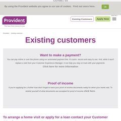 Myprovident Provident Current Customers