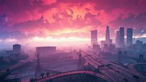 Wallpaper Grand Theft Auto V Sunset City HD Games 5980