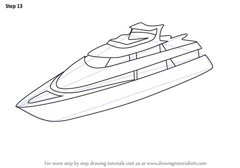 Boat Front View Drawing by Learn How To Draw A Yacht Boats And Ships Step By Step