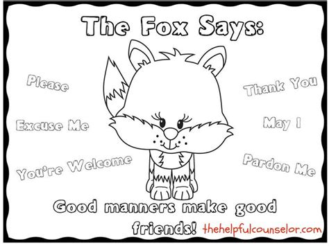 manners matter what does the fox say coloring page 632 | 7719e74e3941a20d606fc8d30e621873 manners activities manners preschool