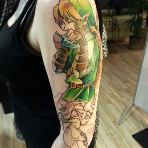 legend  zelda tattoo link ocarina  time midna