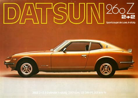 datsun 260z nissan 240z fairlady 1969 280z ads cars 280zx ad 1974 commercial tv sports advertising