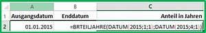 Datumsdifferenz Berechnen : excel datum differenz mit der funktion brteiljahre berechnen ~ Themetempest.com Abrechnung