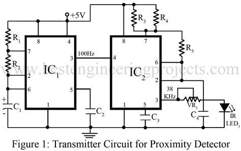 Proximity Detector Circuit Using Timer