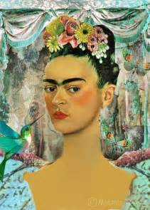 frida kahlo portrait art print mexican spanish illustration