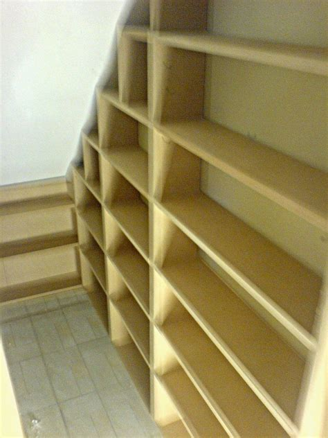 I planned on three 10 deep shelves for the using a level and a straight edge, we marked where the shelves would go, and carefully screwed the shelf. Under stairs storage cupboard | Kitchen | Closet under stairs, Cupboard storage, Under stairs ...