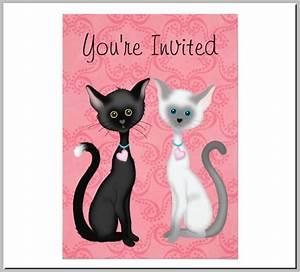 Event Invitation Templates Free 20 Kitty Themed Invitation Card Designs Templates Psd