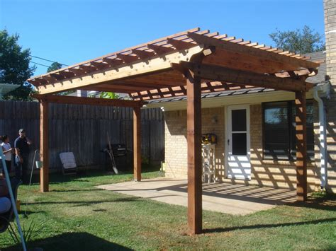 modern simple pergola  gazebo design trends attached  house roof  backyard hardscaping