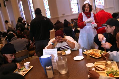 New York City Soup Kitchen Feeds The Needy On Christmas