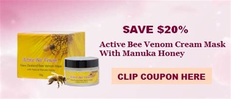 active bee venom mask coupon network