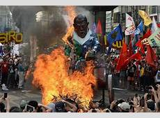 Filipino Protesters Burn Effigy of Barack Obama NBC News