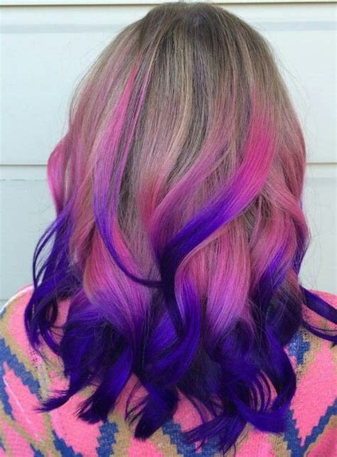 Pink Purple Ombre Dyed Hair Color Hairbybrookegoodman