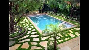 Fascinating Small garden pool design ideas - YouTube
