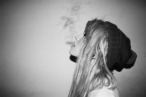 girl smoking weed on Tumblr